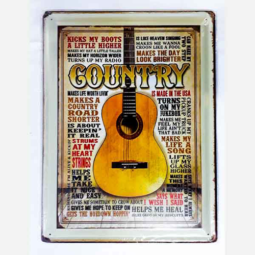 Picture of Metal Wall Tray - Guitar