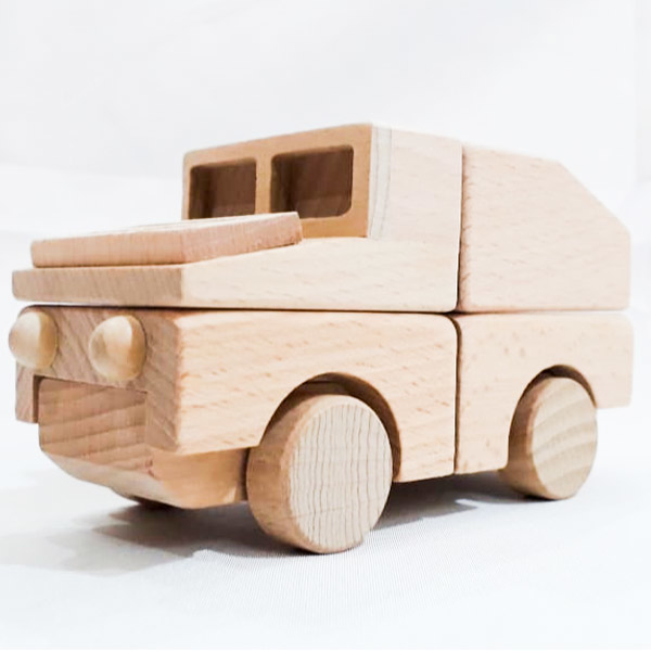 Picture of 6 Pcs Wooden Vehicle Connected Via Magnetic