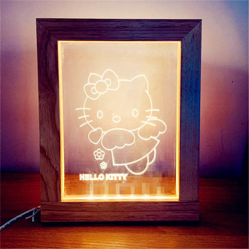 Picture of Led Light Frame - Hello Kitty