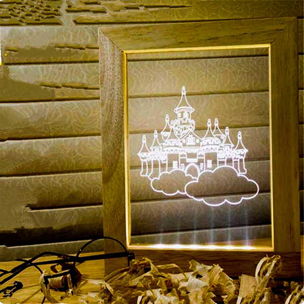 Picture of Led Light Frame - Castle