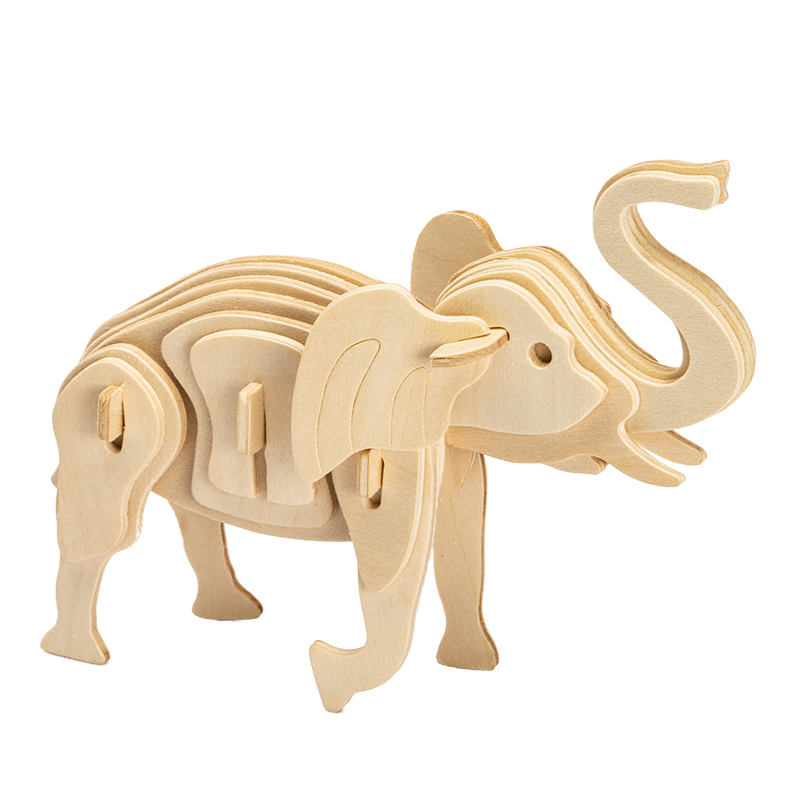 Picture of 3D Elephant Wooden Puzzle