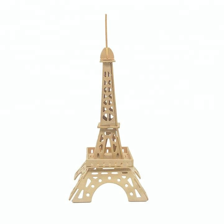 Picture of 3D Eiffel Tower Wooden Puzzle