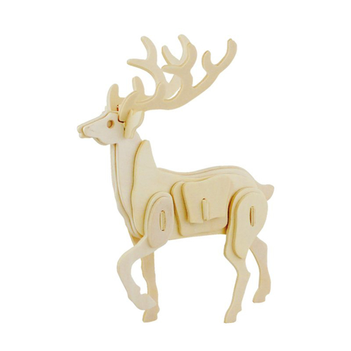 Picture of 3D Deer Wooden Puzzle