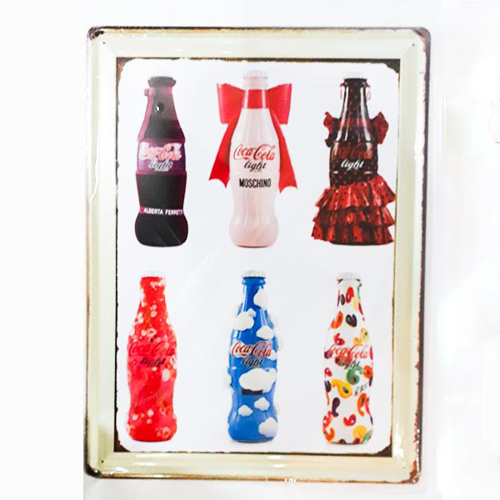 Picture of Metal Wall Tray - Soda Bottles