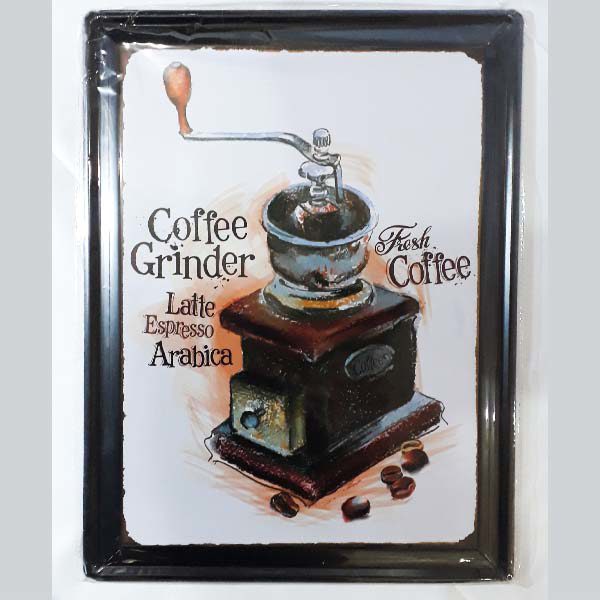 Picture of Metal Wall Tray - Coffee Grinder