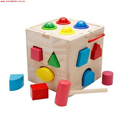 Picture of Shapes And Balls Wooden Box