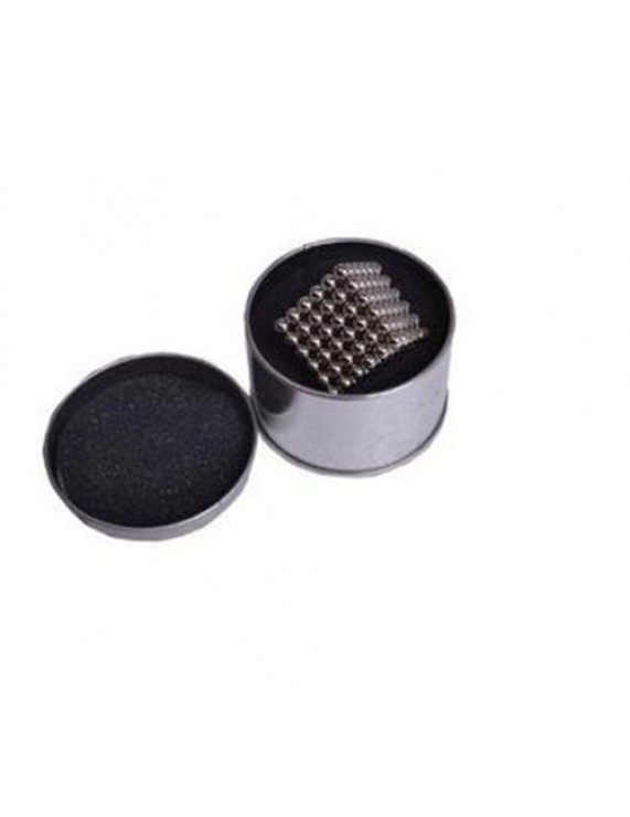 Picture of Magnetic Balls Black Color 5mm 125pcs - Cube Size 2.5x2.5 cm