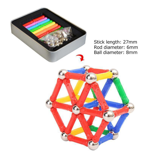 Picture of Magnetic Balls And Sticks Mixed Colors