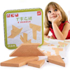 Wooden Jigsaw  T Puzzle Geometric Shapes1