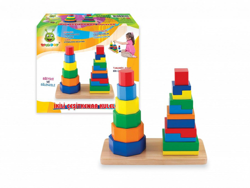 Picture of Wooden Shapes Towers
