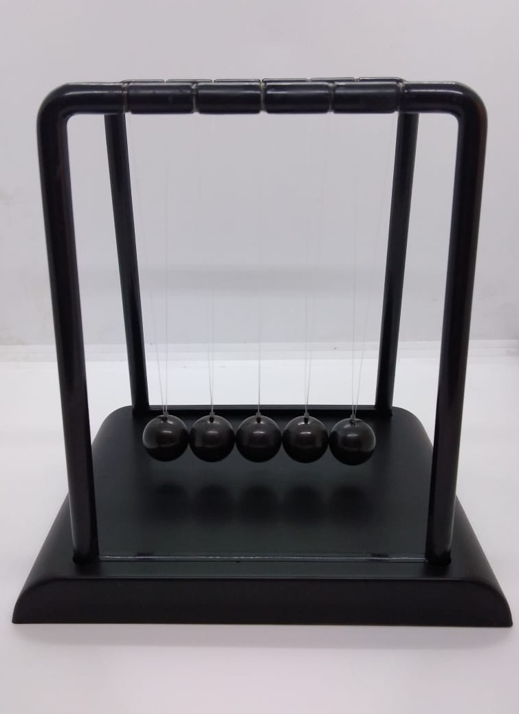 Picture of Black Newtons Cradle Balance Balls Pendulum