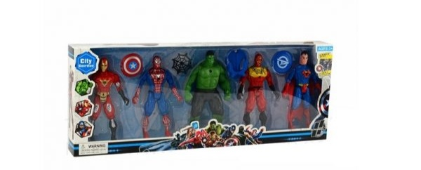 Picture of Superhero figures