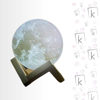 Picture of 3D Moon Lamp - Shiny Moon - Large Size