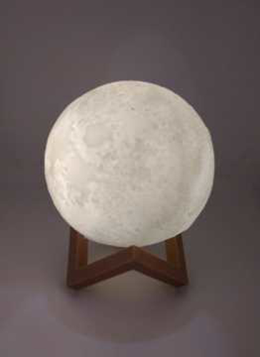 Picture of 3D Moon Lamp - Shiny Moon - One Color - 10 cm Diameter - Battery Operated
