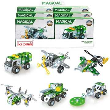 Picture of 6 Mini Military Vehicles and Aircrafts Assembling Blocks