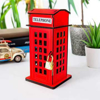 Picture of Telephone Booth Box - Money Box (Piggy Bank) - Red
