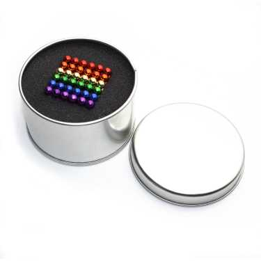 Picture of Magnetic Balls Mixed Colors 5mm 216 pcs - Cube Size 3x3 cm