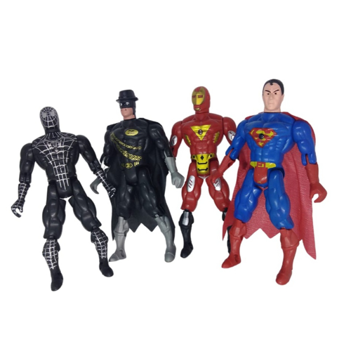 Picture of Batman Iron Man and Spider-Man figures