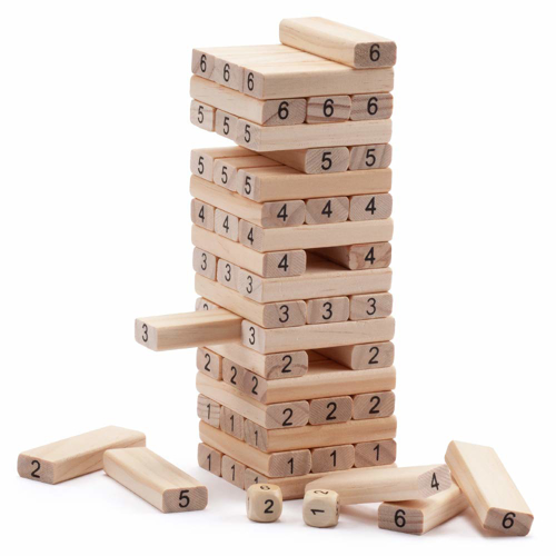 Picture of Jenga - Wiss Toy 54 Piece -with Number