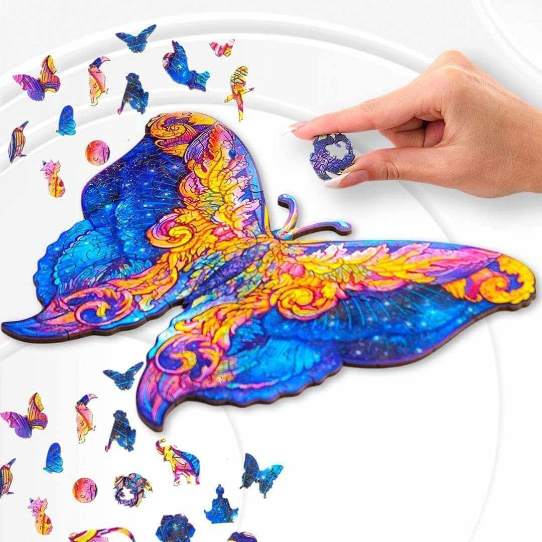 Picture of BUTTERFLY – ANIMAL WOODEN JIGSAW PUZZLE